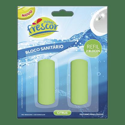 Bloco Sanitário Novo Frescor 35g Citrus REFIL ECONÔMICO