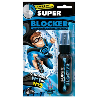 SUPER BLOCKER LAVANDA 60ML SPRAY CX C/ 12 UN